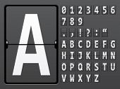 image of outdated  - vector alphabet of mechanical panel - JPG