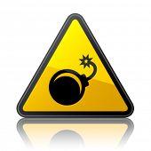 vector bomb warning sign