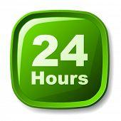 Vektor-grün rund um die Uhr-Taste