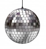 Disco ball isolated on white background