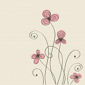 Patrón de flor Vintage