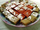 picture of barfi  - Barfi is another popular milk made sweet of Indian Subcontinent - JPG