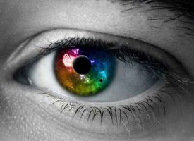 pic of extreme close-up  - extreme close-up of eye. All universe in one eye - JPG