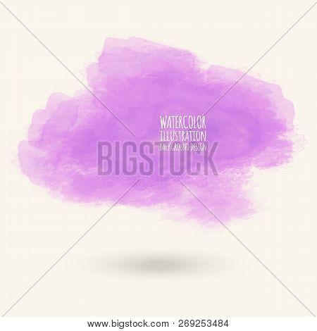 Vector Purple Color Brush Strokes