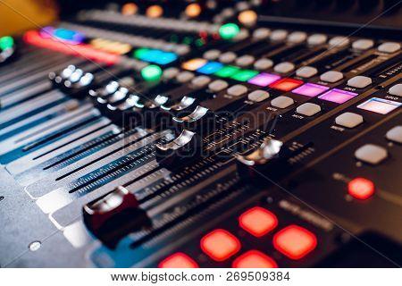 Studio Mixing Panelsound Mixer Audio