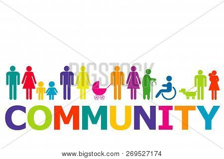Community Concept With Colored People