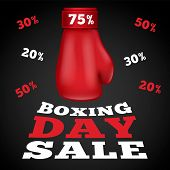Boxing Day Sale Concept Background. Realistic Illustration Of Boxing Day Sale Vector Concept Backgro poster