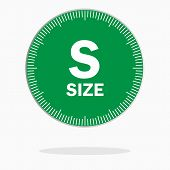 S Size Label Isolated On White. Web Icon.  Clothing Size poster