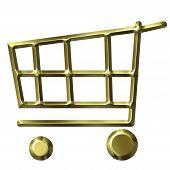 Golden Shopping Cart