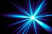 Blaue Strahlen disco