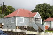 Casa típica arquitectura Capital Oranjestad St. Eustatius Antilhas Holandesas