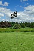 Ball near the flag on golf course in Adare - Ireland