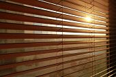 picture of jalousie  - Sunlight behind vertical blinds - JPG