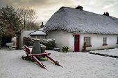 Traditional irish cottage at winter time - Adare Co. Limerick