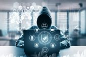 Computing And Malware Concept poster
