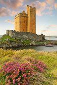 Kilcoe Burg an der Küste von Co. Cork, Irland