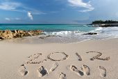 stock photo of playa del carmen  - Year 2012 at Caribbean Sea in Mexico - JPG