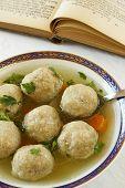 Matzo (Matzah) balls soup