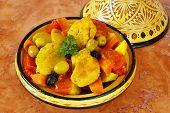 foto of tagine  - Moroccan chicken tagine - JPG