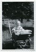 Vintage photo of baby (1955)