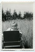 Vintage photo of baby girl