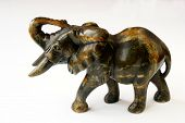 African sculpture of elephant