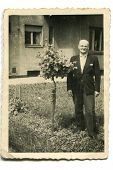 Vintage photo of man