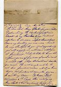 Vintage postcard with old-fashioned writing in English, 1899