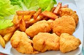 foto of fried chicken  - Homemade chicken nuggets - JPG