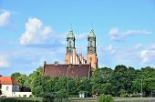 Ostrow Tumski (Cathedral Island) with Archcathedral Basilica of St. Peter and St. Paul, Poznan, Pola