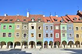 Tenement houses in Old Market Square, Poznan, Poland