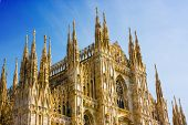 picture of milan  - Milan Cathedral Dome - JPG