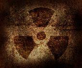Rusty radioactive area symbol