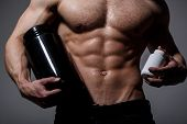 Doping, Anabolic, Protein, Steroid, Sport Vitamin, Bodybuilder And Bodybuilding. Muscles Strong, Mus poster