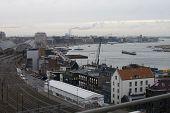 pic of ijs  - View on Amsterdam with river IJ and central station on the left - JPG