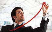 Постер, плакат: Портрет успешный бизнесмен красивый рисунок позитивного граф