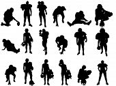 Football Player Vector Silhouettes