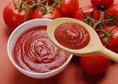 Tomato cream spoon and bowl