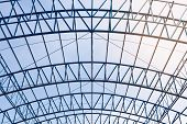 Structural Steel Beam Roof Of Building  Construction poster