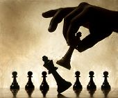 stock photo of cun  - Playing chess game - JPG