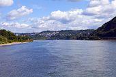 View From Deutsches Eck In Koblenz