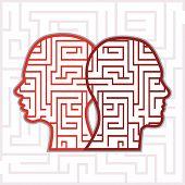 Maze heads vector