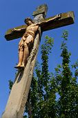 Crucifix Monument In Linz