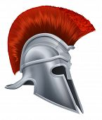picture of hoplite  - Illustration of a bronze Trojan Helmet Spartan helmet Roman helmet or Greek helmet - JPG