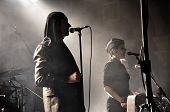 Laibach rock band performs live