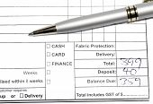 Pen On Invoice