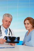 Paciente e seu médico tops