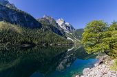 Mountain Reflection At Lake Gosau