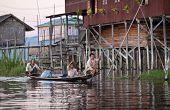 Village Over Water On Inle Lake, Myanmar