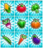 Glossy Colorful Vegetables